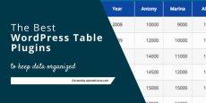 Best Free Responsive WordPress Table Plugin (2019)