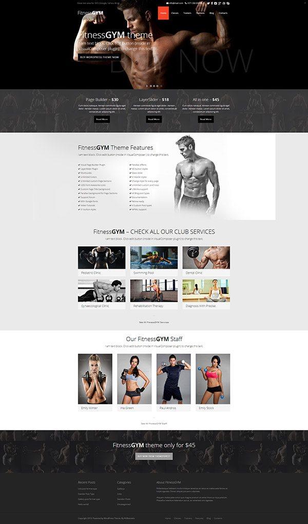 FitnessGYM Theme