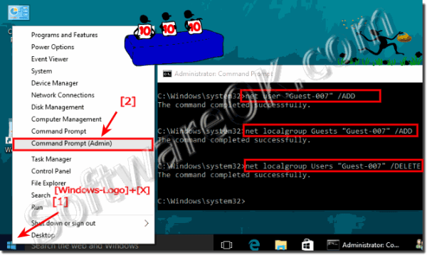 Windows 10 create / enable guest account, user to guest ...