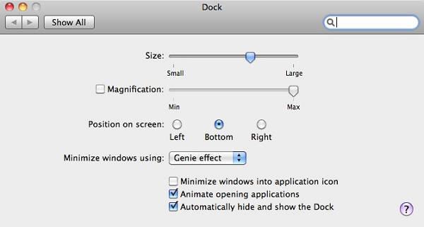 edit Mac Dock size (Dock icon size)