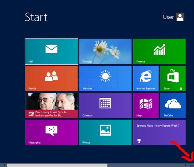 Open settings and control panel on window 8