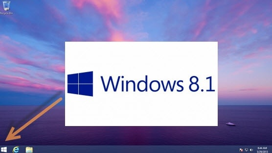 Start button on Windows 8