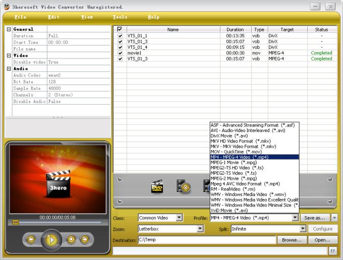 3herosoft video converter