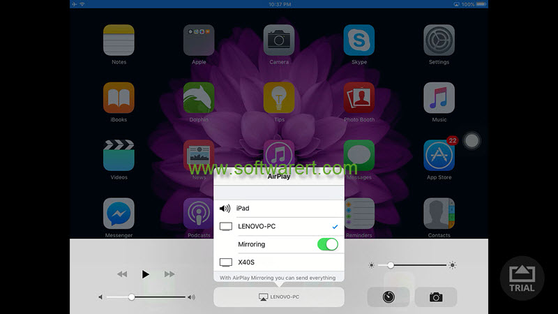 airplay mirroring from ipad to pc using airserver