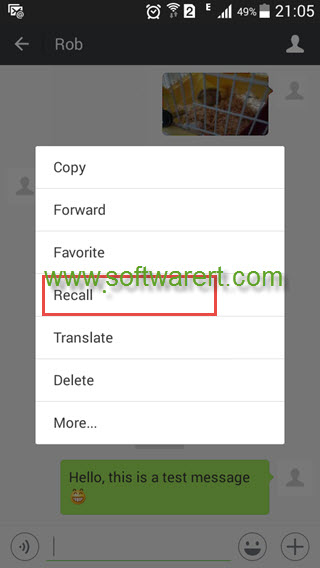 recall wechat messages on android mobile phone