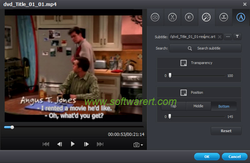 add and edit subtitles for movies & videos using video converter ultimate