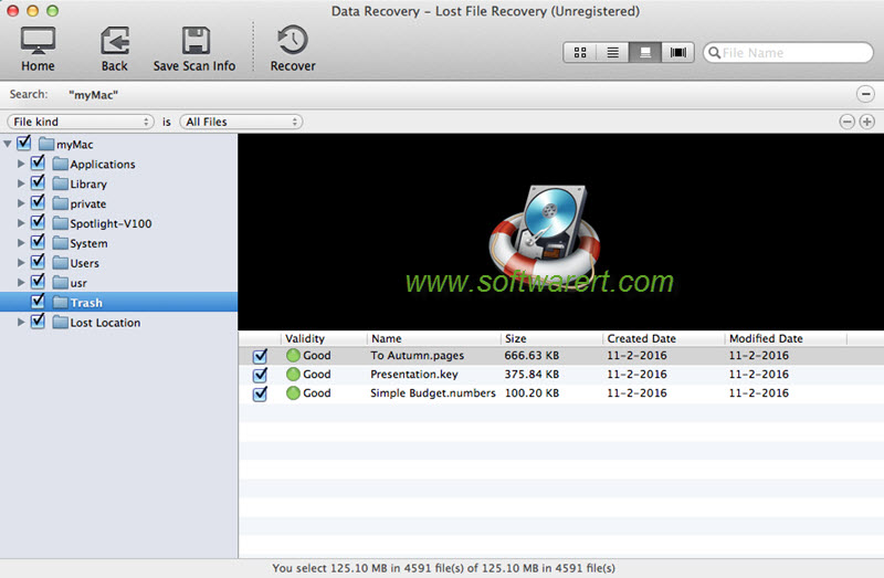 recover deleted iworks pages numbers keynote files using mac data recovery