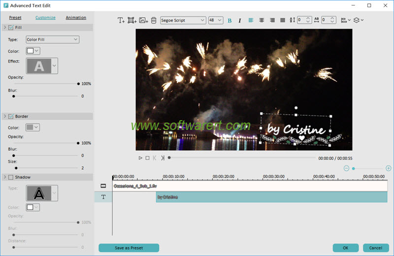 editing text advance mode in filmora for pc