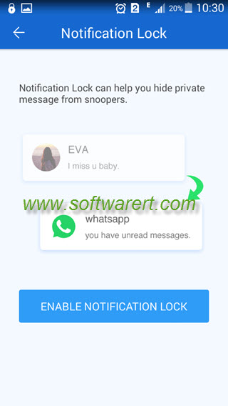 Lock sensitive notifications & secret messages on Android phone