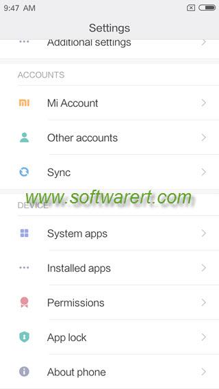 xiaomi redmi settings - app lock