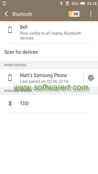 htc mobile phone pair devices via bluetooth