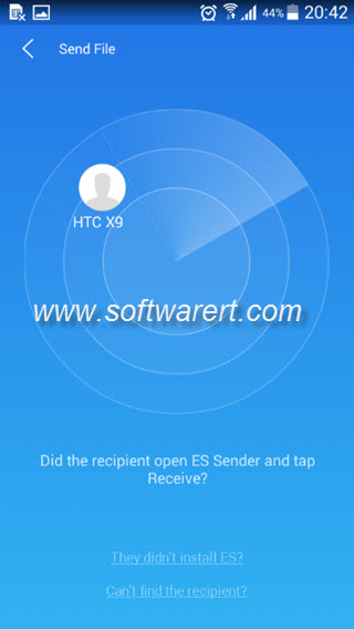 es sender app on android phone to send files