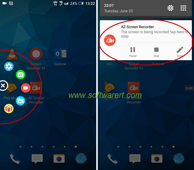az screen recorder for android