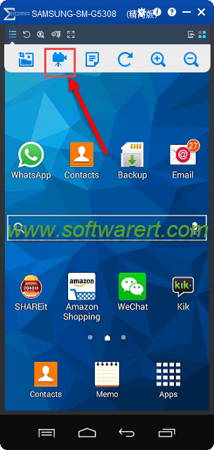 Record android phone screen videos using total control for windows