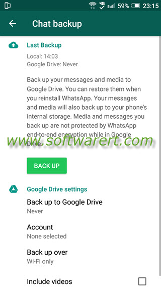 backup whatsapp chats messages on android phone