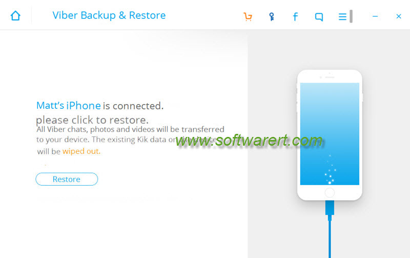restore viber messages backup to iphone