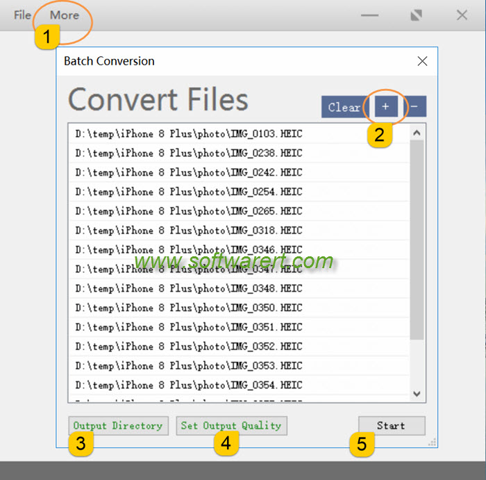 batch convert heic to jpg using free heif utility on windows pc