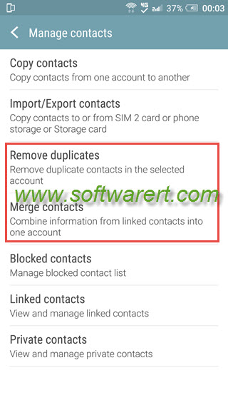 merge remove duplicate contacts on htc mobile phone