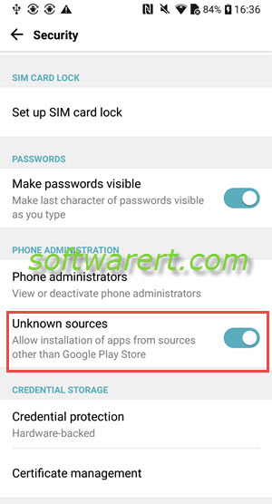 Install apps from unknown sources on LG mobile phone