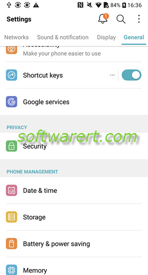 lg mobile phone security settings