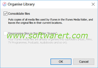 Consolidating itunes library windows location