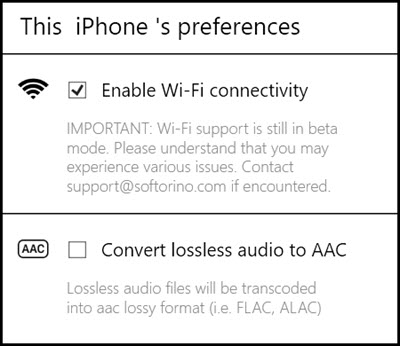 enable wifi connection for waltr on windows PC