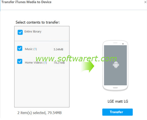 transfer itunes media from Windows PC to android phone using tunesgo