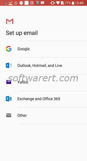 set up email account in gmail app on android phone
