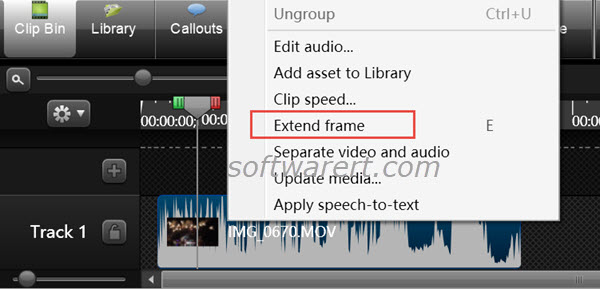 Extend frame in a video or recording using Camtasia Studio