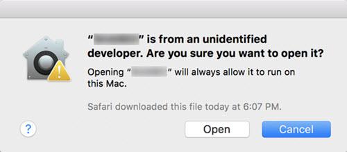 open app from unidentified developer on mac