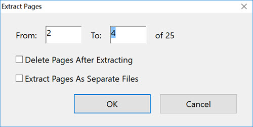 pdf pages selection and extraction in acrobat pro for windows