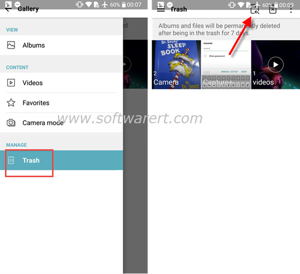 Recover deleted photos, videos from Trash on Android phone