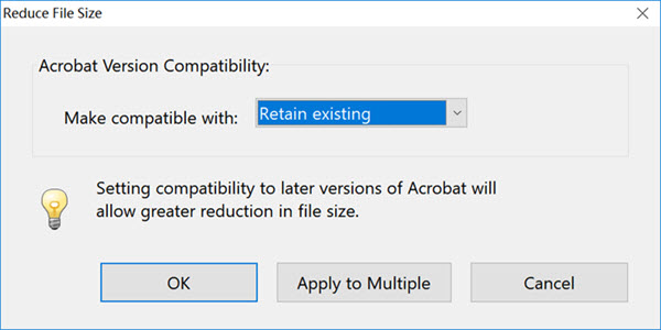 reduce file size using acrobat on windows computer