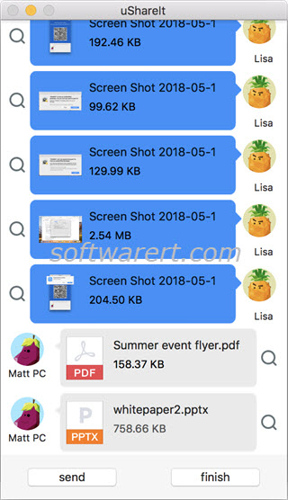 transfer files documents between windows pc and mac using ushareit