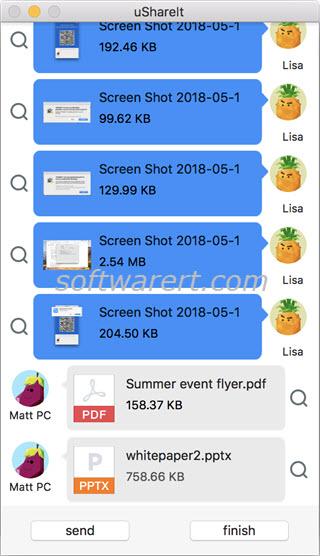 transfer files documents between windows pc and mac using ushareit