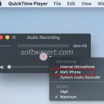 Record iPhone audios & music using QuickTime Player on Mac