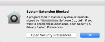 third-party system extension installation blocked on mac