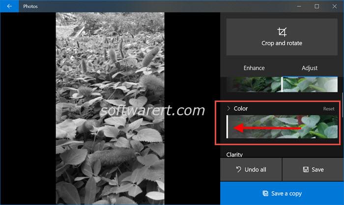 convert black white photos windows 10