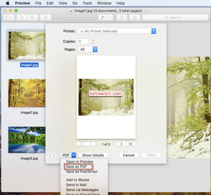 How to combine several jpg files into one pdf