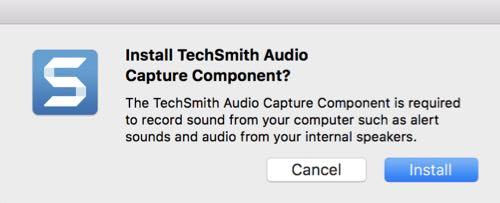install techsmith audio capture component snagit mac