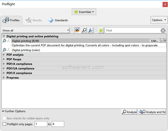 adobe acrobat pro dc for windows preflight profiles