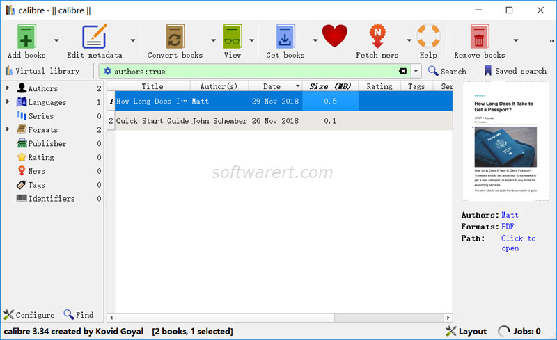 calibre for windows to convert pdf
