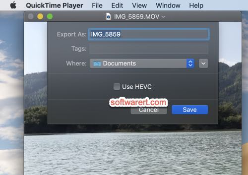 Convert HEVC H 265 to AVC H 264 with QuickTime Player for Mac