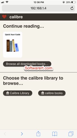iphone to connect calibre content server to transfer books