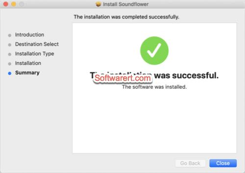 Soundflower installed successfully on Mac