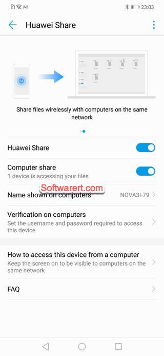 enable huawei share computer share huawei phone