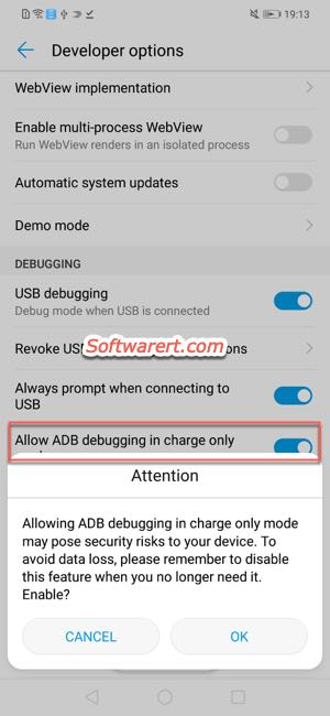 Developer Options disabled on Huawei phone