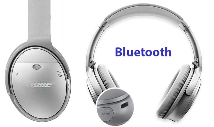 Bose QuietComfort 35 wireless headphone enable bluetooth