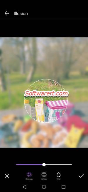 circular blur photos on huawei phone