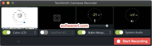 camtasia recorder to record microphone sound input and system audio on mac